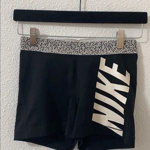 Black and white Nike pro spandex shorts